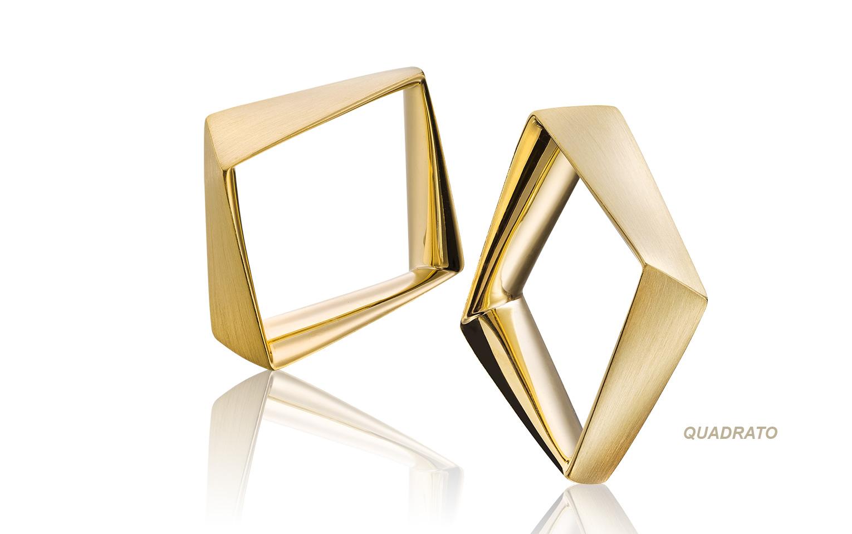 speciale vierkante 14 karaat gouden ringen