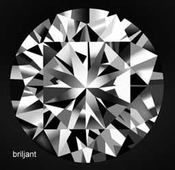 Diamant briljant geslepen