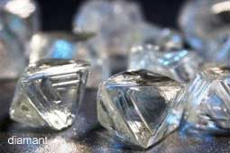 losse ruwe diamanten