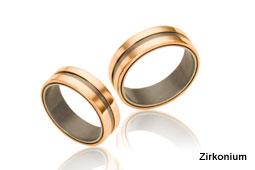 ringen gemaakt van zirkonium